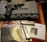 wilson combat edc x9 9mm black ambi safety with two magazine, bag and paperwork