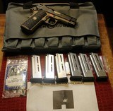 wilson combat x tac elite 9mm with 6 magazines, bag and paperwork