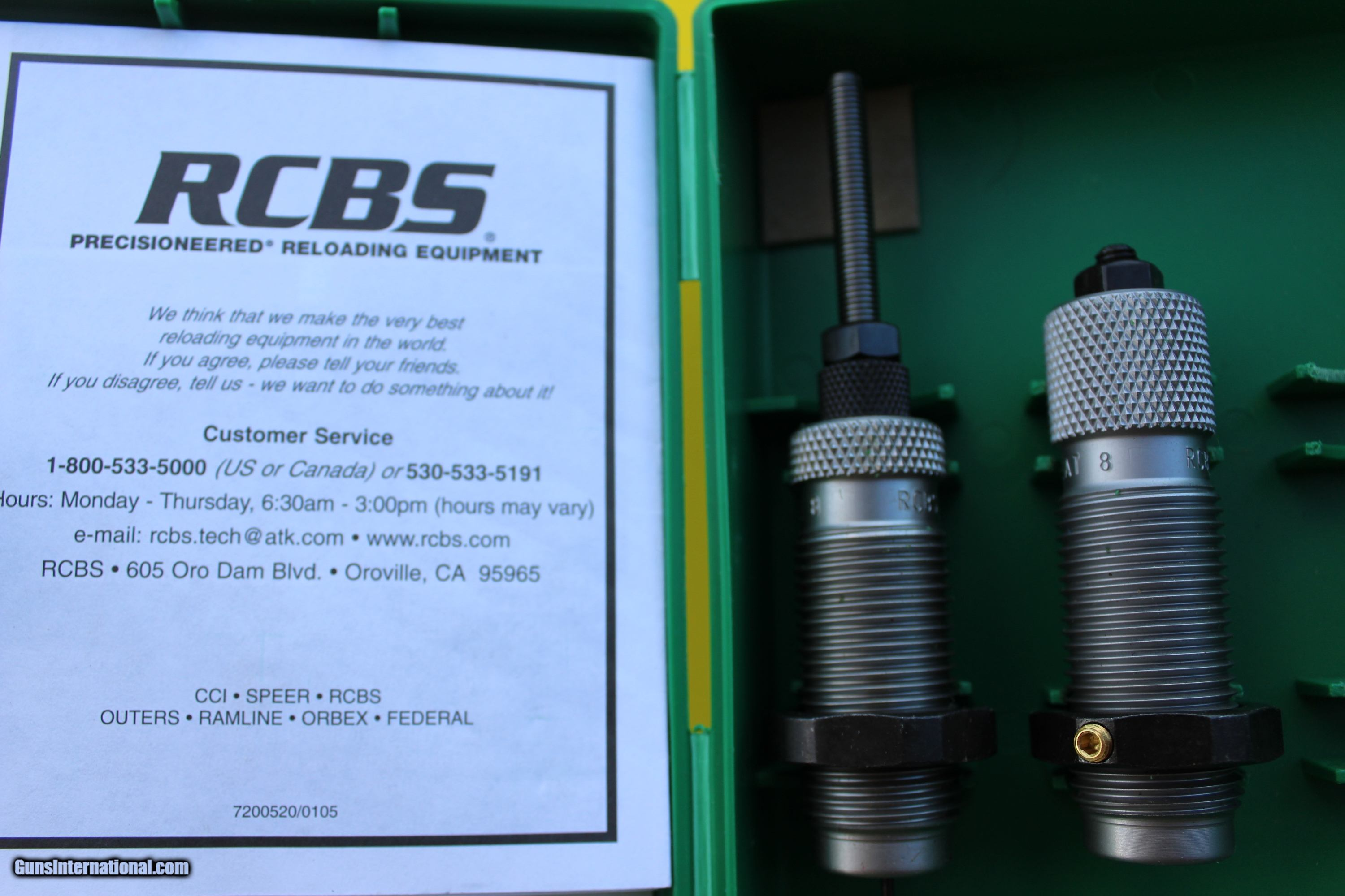 RCBS reloading dies, 6 8 SPC for sale
