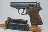 WW2 Rare Bank Issued Walther PPK Two Matching Magazines Excellent Condition WWII