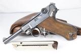 Original WWI 1918 DWM Luger Rig - Matching Magazine WW1