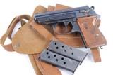 Scarce Original WWII Nazi Luftwaffe Walther PPK Rig - Matching Magazine WW2