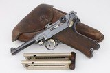 1918 Erfurt P.08 Luger Rig - Two Matching Magazines - 9mm