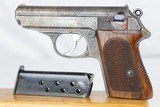Rare, Original Engraved WWII Nazi era Walther PPK - 1932 - 7.65mm - 1 of 15