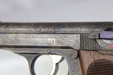 Rare, Original Engraved WWII Nazi era Walther PPK - 1932 - 7.65mm - 13 of 15