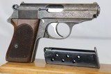 Rare, Original Engraved WWII Nazi era Walther PPK - 1932 - 7.65mm - 2 of 15
