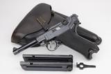 Beautiful WII Nazi Black Widow P.08 Luger Rig - 1941 - 9mm