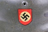 Police M1940 Steel Helmet of SS-Brigadeführer and Knights Cross Awardee Hans Plesch WW2 / WWII - 4 of 25