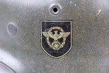 Police M1940 Steel Helmet of SS-Brigadeführer and Knights Cross Awardee Hans Plesch WW2 / WWII - 3 of 25