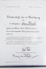 Police M1940 Steel Helmet of SS-Brigadeführer and Knights Cross Awardee Hans Plesch WW2 / WWII - 25 of 25