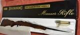 "browning safari .222 remington magnum"" unfired in box """