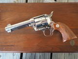 """Colt Single Action Army, .44-40 """"Frontier Six Shooter"""", Nickel, 4 3/4"""" Colt Collectors Assn Special Edition! #157 of 250"""