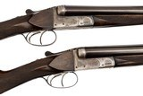 G DeFourny 20 Gauge Belgium Pair Boxlock Ejector Shotguns with Concealed Third Fasteners and Side Clips