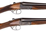 WEBLEY & SCOTT BOXLOCK EJECTOR 12 GAUGE PAIR SIDE-BY-SIDE SHOTGUNS