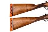 WEBLEY & SCOTT BOXLOCK EJECTOR 12 GAUGE PAIR SIDE-BY-SIDE SHOTGUNS - 5 of 16