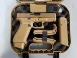New in Box Glock 19X - 9mm with Factory Night Sights, Coyote Tan - 2 of 2