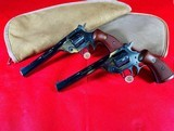 """2 H&R MODEL 999 """"SPORTSMAN"""" 6"""" .22 LR SEQUENTIALLY SERIAL NUMBERED IN COLLECTOR GRADE CONDITION."""