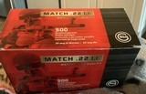 Geco Match .22LR, Optimized for rifles, Brick, 500, Winchester, Ruger, S&W