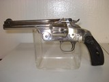 "Smith & Wesson New Model No 3, 5"" Nickel 44R Cal"