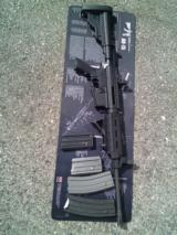 DPMS Oracle Panther Model A-15, 4 magazines, and a spam can full of ammo