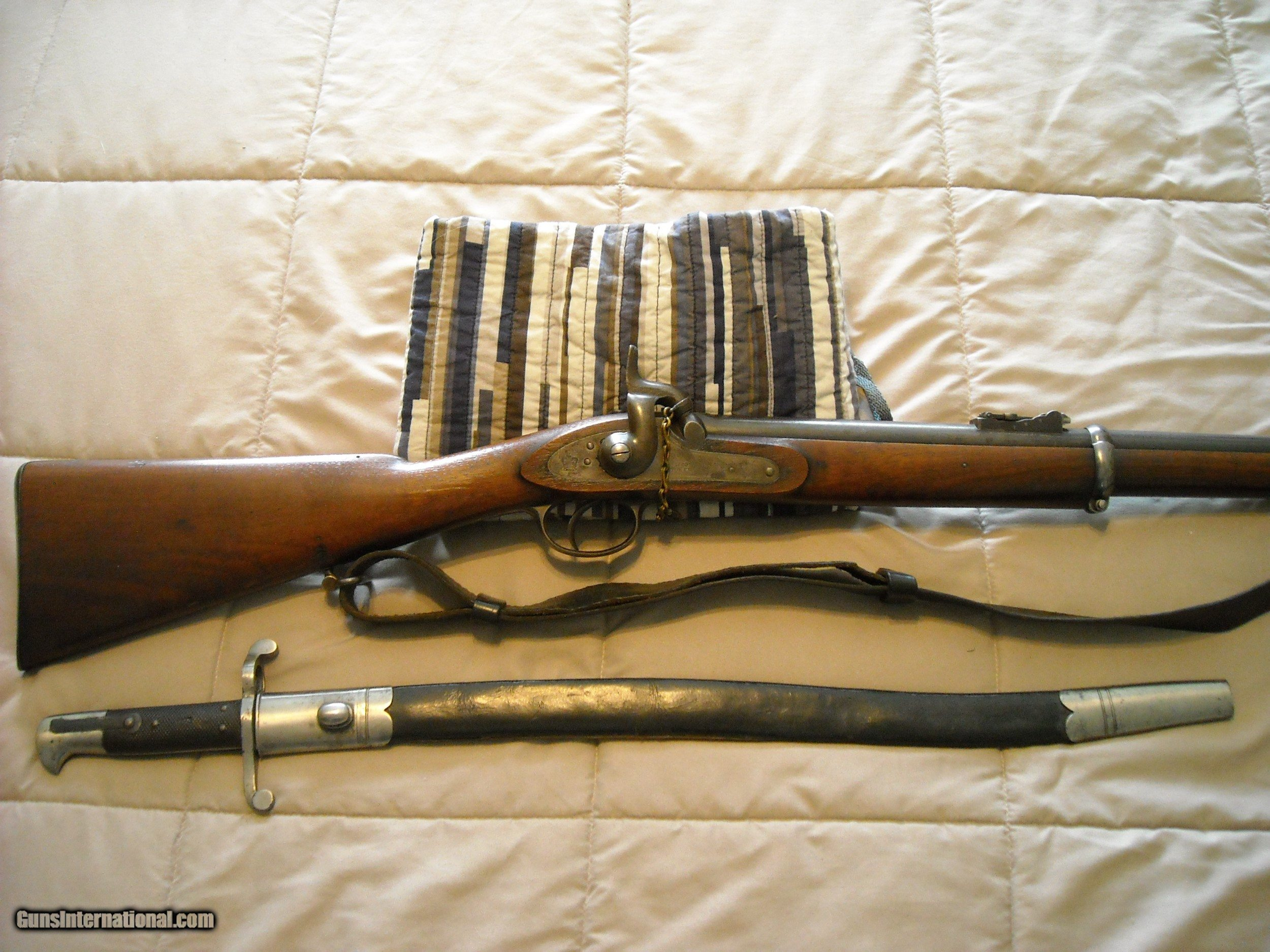 Fine P1856 Iron Mounted 2-Band Tower Rifle w/Saber Bayonet