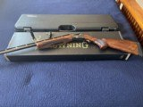 Browning BT-99 Plus w/ejector and raised rib. Grade 3 walnut. Negrini case included