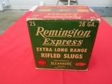 Remington Express Extra Long Range Rifled Slugs 28 Gauge