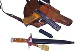 Excellent low S/N Swiss Army SIG P49 Pistol & M43 Dagger