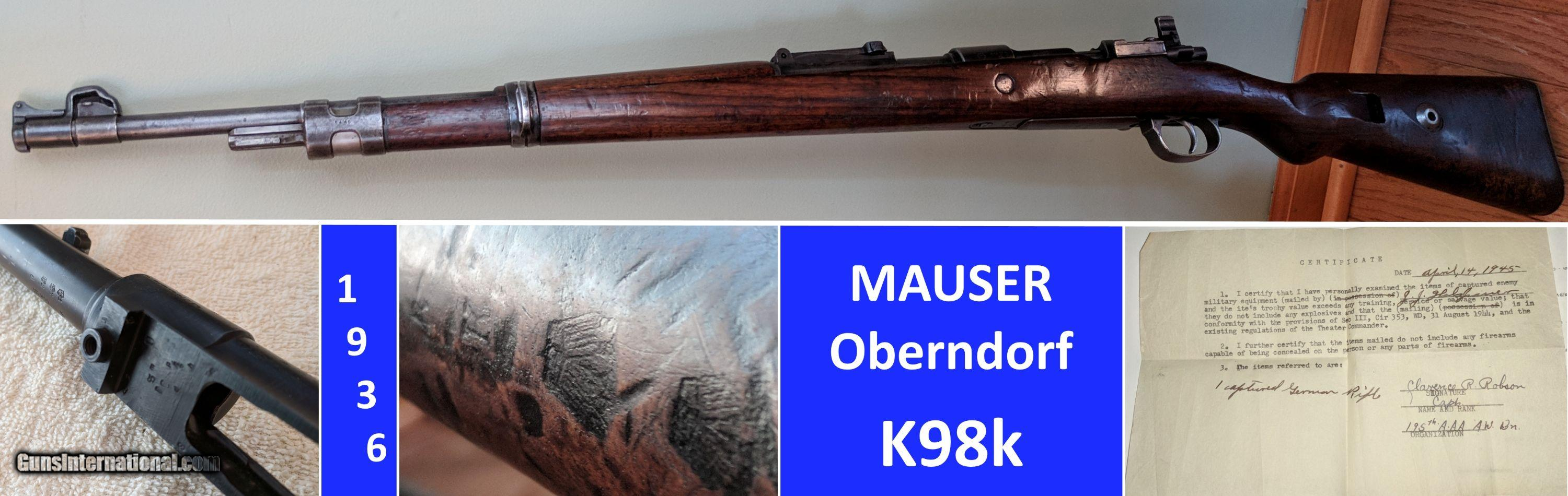 MAUSER 1936 Oberndorf – ALL Matched Numbers - Capture Papers