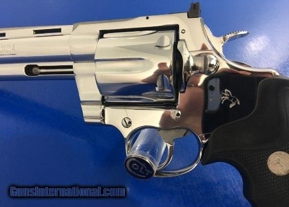 Colt Anaconda 6in BRIGHT STAINLESS 100% PRISTINE