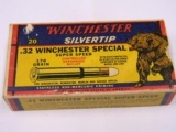 Winchester 32 Win Special Super Speed 170 Gr. Crouching Bear Box