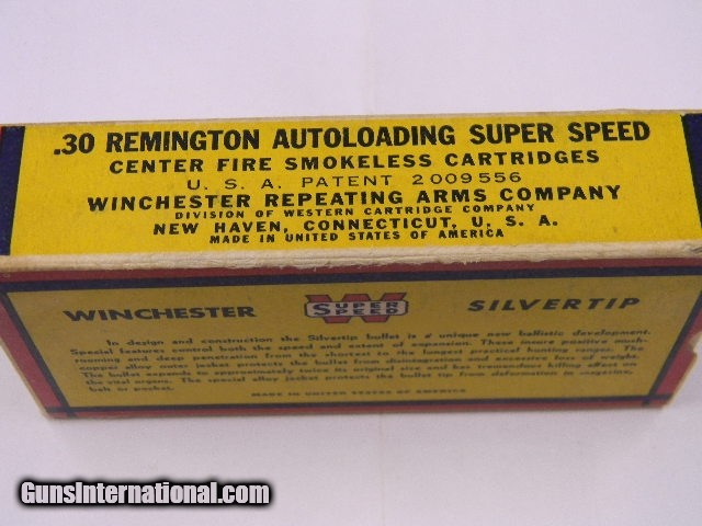 Winchester 30 Remington Auto Crouching Bear Box for sale