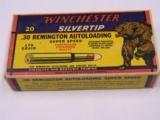Winchester 30 Remington Auto Crouching Bear Box