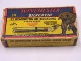 Winchester .32 Remington Autoloading Crouching Bear Box