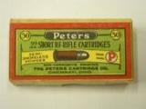 Peters 22 Short Rimfire Semismokeless Ammo