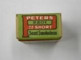 Peters 22 Short Rimfire Semismokeless Ammo - 5 of 6