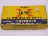Western 32 Winchester Special Super X 170 grain Silvertip Bullets