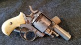 WEBLEY NO.2 REVOLVER 60% NICKLE WITH TRUE IVORY GRIPS SER #3060 - 1 of 17