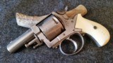 WEBLEY NO.2 REVOLVER 60% NICKLE WITH TRUE IVORY GRIPS SER #3060 - 2 of 17
