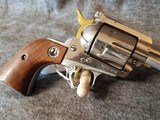 "Super Rare Ruger Stainless Blackhawk with Gold highlights 357 6.5""barrel"