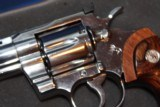 COLT PYTHON ELITE 1998 WITH BOX AND PAPER WORK AS WELL NAIR MINT FOR AGE STAINLESS BRIGHT ALL FACTORY....... - 9 of 15