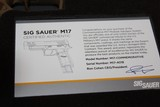 SIG SAUER M17-COMMEMORATIVE P320F M17 COMMEMORATIVE EDITION 9MM # 4018 out of 5000 MADE ONLY... AWSOME COLLECTABLE...... - 10 of 10