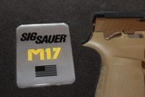 SIG SAUER M17-COMMEMORATIVE P320F M17 COMMEMORATIVE EDITION 9MM # 4018 out of 5000 MADE ONLY... AWSOME COLLECTABLE...... - 9 of 10