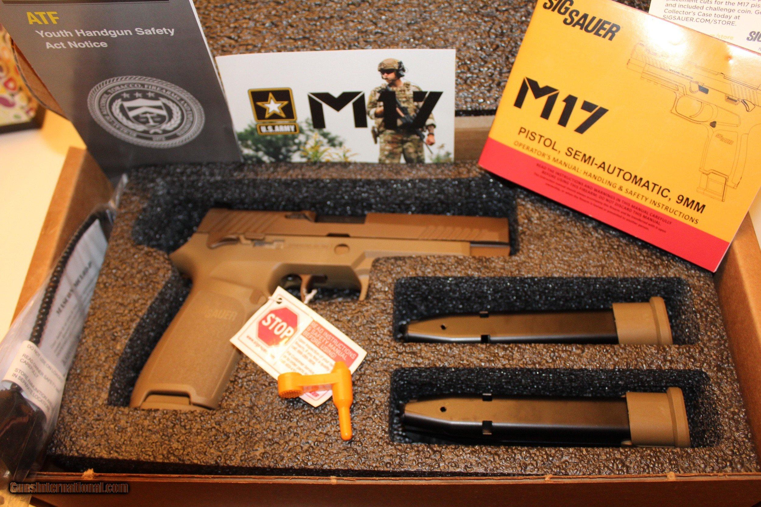 SIG SAUER M17-COMMEMORATIVE P320F M17 COMMEMORATIVE EDITION