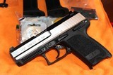 HK USP 45 COMPACT STAINLESS W/SAFTEY DE COCKER,,W/2 MAGAZINES 8 ROUNDS COMPLETE PACKAGE MINT LIKE NEW,,,,,,, ALL FACTORY,,,,,, - 2 of 10