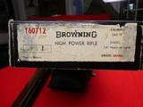 Browning FN High Power rifle .243 Safari Grade Sako NEW IN BOX Mfg. 1968 - 17 of 20