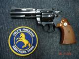 """Colt Diamondback Blue 4"""" BBl. MINT MFG 1976 Target stocks"""