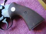 RARE Colt Officers Model Match Factory SA Only MFG 1959 Lettered Near Mint .38Spec. Walnut Full checkered Target stocks - 9 of 12