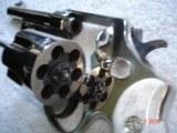 "S&W Model .38/44 Heavy Duty Model of 1950 Bright nickel 5""BBl.MFG 1955 5-screw Excellent in Custom Case with knife Etc. Elk Stag Stocks - 6 of 15"