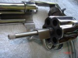 "S&W Model .38/44 Heavy Duty Model of 1950 Bright nickel 5""BBl.MFG 1955 5-screw Excellent in Custom Case with knife Etc. Elk Stag Stocks - 5 of 15"
